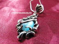 316L Surgical Steel Blue Cat's eye pendant