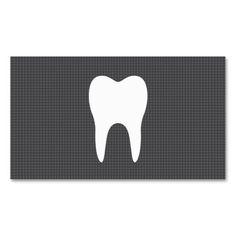 White tooth grey texture minimalist dentist dental business card templates