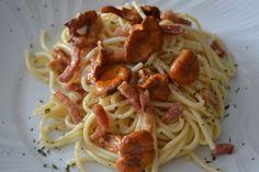 Mi Diversión en la cocina: Espaguetis con Rossinyols y beicon
