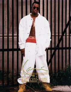 Puff Daddy for Karl Kani - The 90 Best Hip-Hop Fashion Ads of the '90s   Complex