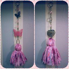 Borlas decorativas Corazón y Mariposa