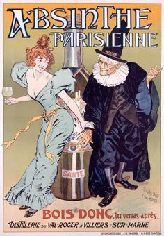 Absinthe Parisienne Gelis Didot Maltese - www.MadMenArt.com | Vintage Ads with Sex Appeal. Over 2000 vintage designs which could be said to have sex appeal. The blurred line between sex appeal and sexism. #Advertising #Vintage #Ads #VintageAds #SexAppeal