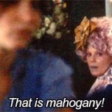 ... She's Very Passionate About Mahogany ...