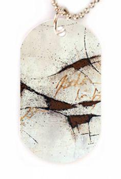#Halskette mit #PicTag-Anhänger für #Modebewusste und #Trendige. #Freistilkunstcfischer #Schmuck #Geschenkidee #Mode #Style #Fashion