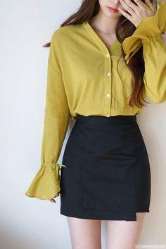 Black Muffin Skirt