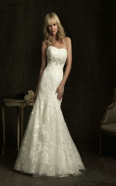 Allure Bridals 8913 Lace Mermaid Wedding Dress [8913] - US$253.99 : fancybridals.com
