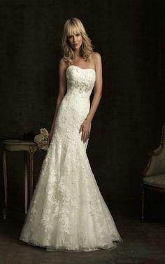 Allure Bridals 8913 Lace Mermaid Wedding Dress [8913] - US$253.99 : fancybridals.com