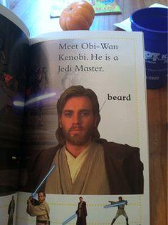 Obi-Wan. It is important to label his beard.