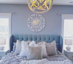White and Gray bedroom by Woven Nest
