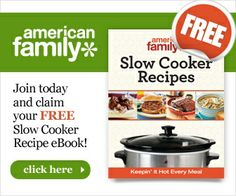 American Family Slow Cooker  FREE Slow Cooker Recipe eBook! might want grab this book because you could win a slow cooker in the next post :P