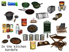 In the kitchen clutter by kardofe at TSR via Sims 4 Updates