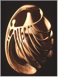 The beginning by Erling Gustafsson. Wood.