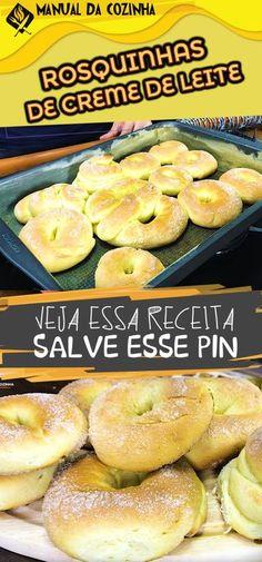 ROSQUINHA DE CREME DE LEITE – ESSA DERRETE NA BOCA! #rosquinha #cremedeleite #receita #doce #dica #manualdacozinha