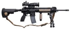 Heckler  Koch's long anticipated MR762A1 rifle (in caliber 7.62 x 51mm)