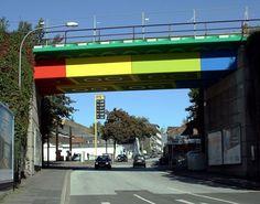 """Lego-Brücke (""""LEGO Bridge"""") by megx in Wuppertal, Germany"""