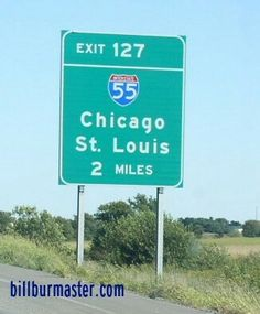 A BGS two miles from I-55 on EB I-74 at Bloomington, Illinois