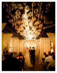 bubble chandelier wedding