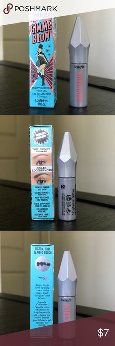 Benefit cosmetics Gimme Brow volumizing fiber gel BRAND NEW, NEVER USED! 💯  Brow Volumizing Gel  Volumizes, tames and tints eyebrows  Natural looking Buildable  Water resistant     Color #5 .03 oz  📦BUNDLE TO SAVE📦 Benefit Makeup Eyebrow Filler