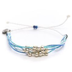 Pura Vida Platinum Multi Strand Bracelet ($12) ❤ liked on Polyvore featuring jewelry, bracelets, denim, platinum bangle, adjustable bangle, platinum jewelry, platinum jewellery and pura vida jewelry