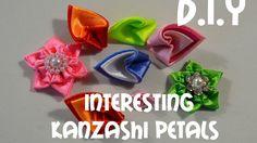 Интересные острые лепестки канзаши/Interesting Kanzashi Petals/D.I.Y