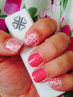 Jamberry Nail Wraps in Skinny Pink and Budding Love. Order at: ascarbrough.jamberrynails.net
