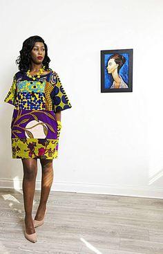 Sosome Galaxy africaine imprimer robe pour femmes Ankara jaune