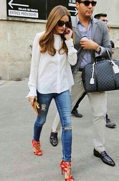 White shirt Street wear