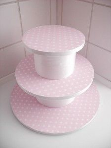 {diy Wedding Ideas} Cake Stand For Cupcakes: made from styrofoam