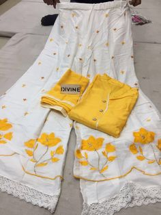pilazo Pakistani Dress Design, Pakistani Dresses, Indian Dresses, Indian Outfits, Salwar Designs, Blouse Designs, Embroidery Suits, Hand Embroidery, Eid Outfits