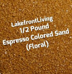 Items similar to Brown Sand for Unity Sand Ceremony - Espresso Brown Floral Sand - Pound on Etsy Unity Sand, Sand Ceremony, Colored Sand, Brown Floral, Espresso, Handmade Gifts, Etsy, Diy Colored Sand, Espresso Coffee