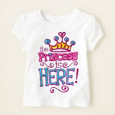 baby girl - graphic tees - princess is here graphic tee | Children's Clothing | Kids Clothes | The Children's Place
