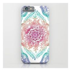 Indian Ink - Rainbow Version iPhone 6s Case (€33) ❤ liked on Polyvore featuring accessories, tech accessories and iphone & ipod cases