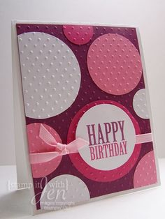 Easy and trendy! Happy birthday - dot embossed