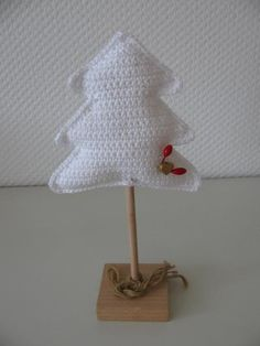Haakpatroon kerstboom gratis / free crochet pattern Dutch