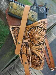 by Rock'n R Leather 1911 Holster, Gun Holster, Custom Leather Holsters, Kydex, Craft Work, Leather Working, Weapons, Rendering Techniques, Creations