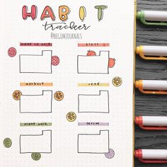 Do you write the days on your habit tracker? I've tried not to write them this month and it's not going so… Bullet Journal Headers, Bullet Journal Tracker, Bullet Journal Notebook, Bullet Journal Ideas Pages, Bullet Journal Spread, Bullet Journal Layout, Bullet Journal Inspiration, Book Journal, Bullet Journals