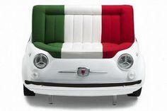 Para los fanáticos del Fíat 500, este asiento inspirado en ese modelo de auto