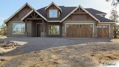 Craftsman House Plan 23111 The Edgefield: 3340 Sqft, 4 Bedrooms, 4 Bathrooms Rustic House Exterior Craftsman House Plans, New House Plans, Dream House Plans, House Floor Plans, Craftsman Ranch, Rustic House Plans, Craftsman Home Exterior, Craftsman Farmhouse, Craftsman Home Styles
