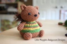 squirrel and other toy ideas using the basic little muggles owl crochet pattern