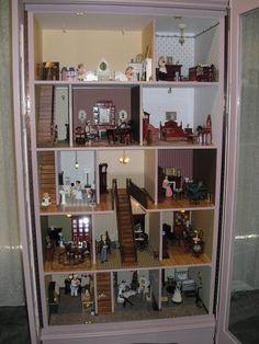 Ce vieux placard peut être transformé en une adorable maison de poupées... Suivez le guide !