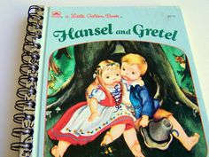 Upcycled Little Golden Book Hansel and Gretel Notebook by jBunae, $8.00