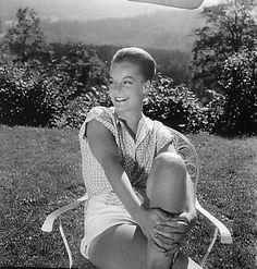 Romy Schneider, 1957, Berchtesgaden