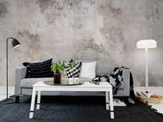 Ideas for living room wallpaper accent wall lounges grey Stunning Wallpapers, Wall Cladding, Decor Room, Interior Inspiration, Room Inspiration, Living Room Designs, Living Rooms, Living Area, House Design