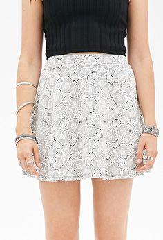 Floral Lace Skater Skirt | FOREVER 21 - 2000117211
