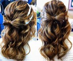The Hair Bow Bun... half updo