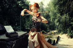 Steampunk Tendencies | Model : Red Hair - Photography : Irina Braga - Outfit : Radoobutuc