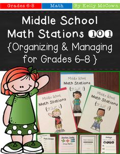 Middle School Math Stations 101 Guide OFF for the first 48 hours!***************Middle School Math Stations 101 Guide: Managing & Organizing for Grades Learning Stations, Math Stations, Math Centers, Junior High Math, Math Groups, Secondary Math, Guided Math, Math 8, Math Workshop