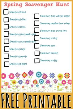 This free set of printables for homeschool kids will give you and your little ones a fresh respite from indoors this Spring.  Use the scavenger hunt lists as a guide as you have some fun outside. T…