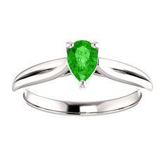 10kt White Gold 6x4mm Center Pear Garnet Engagement Ring...(ST122187:1959:P).! Price: $399.99 #diamonds #ring #gold #garnetring #fashionring #jewelry