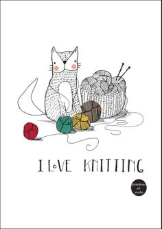 I love knitting print by PintolinesDesign on Etsy, €12.00